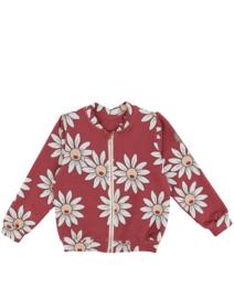 Dear Sophie - Red Daisy Bomber Jacket