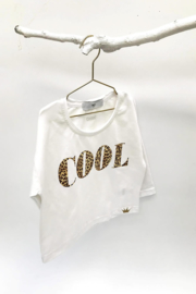 "Omho - White sweater ""COOL"""