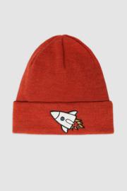 Minikid - Hat Dark Orange Rocket