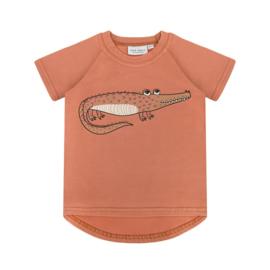 Dear Sophie - Crocodile Red Brick T-shirt