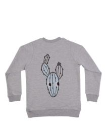 Dear Sophie - Grey Cactus Bomber Jacket