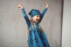 Zezuzulla - Lo Dress Leaves on Blue