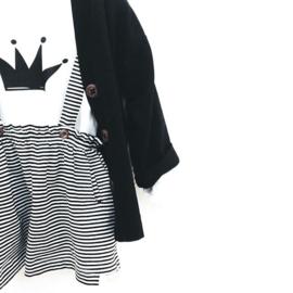 Omho - White oversized t-shirt black crown