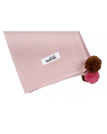 Malomi Kids - Swaddle Muslin Pompon Dusty Pink