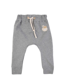 Dear Sophie - Grey Melange Basic Pants