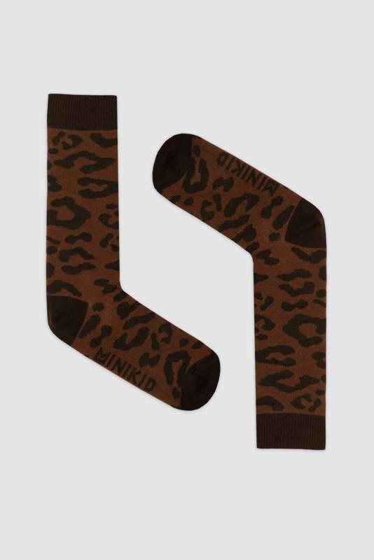 Minikid - Leopard Brown Knee Socks