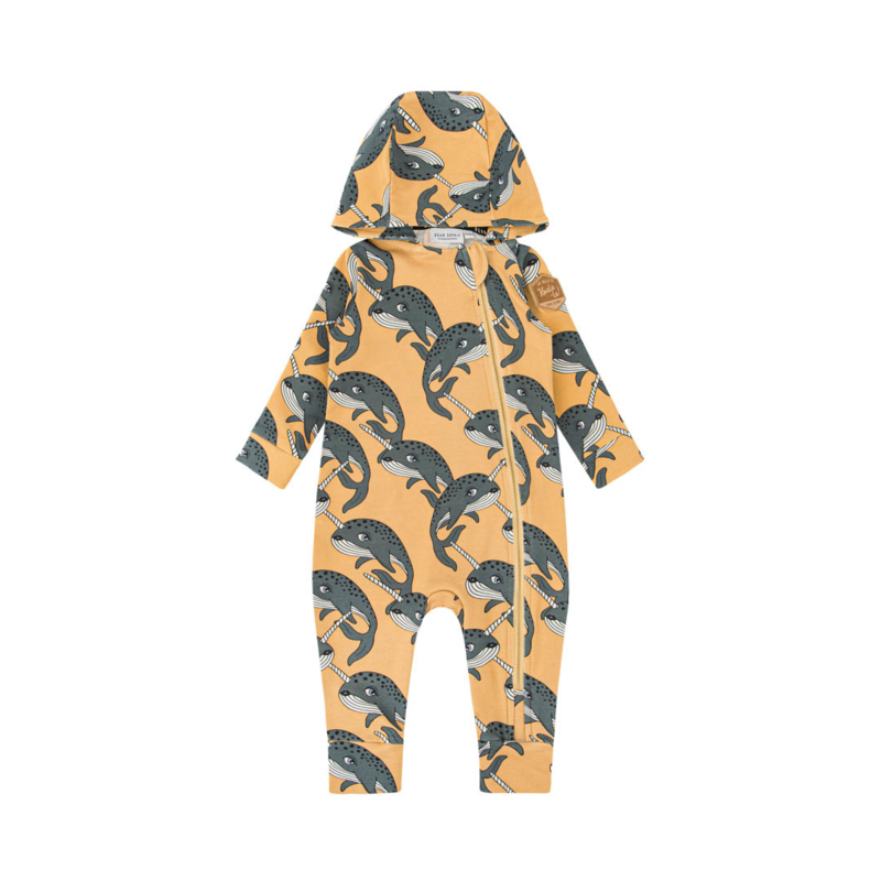 Dear Sophie - Narwhal Yellow Overall