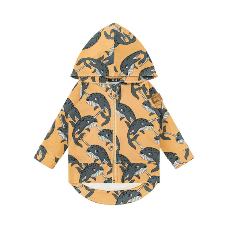 Dear Sophie - Narwhal Yellow Hoodie