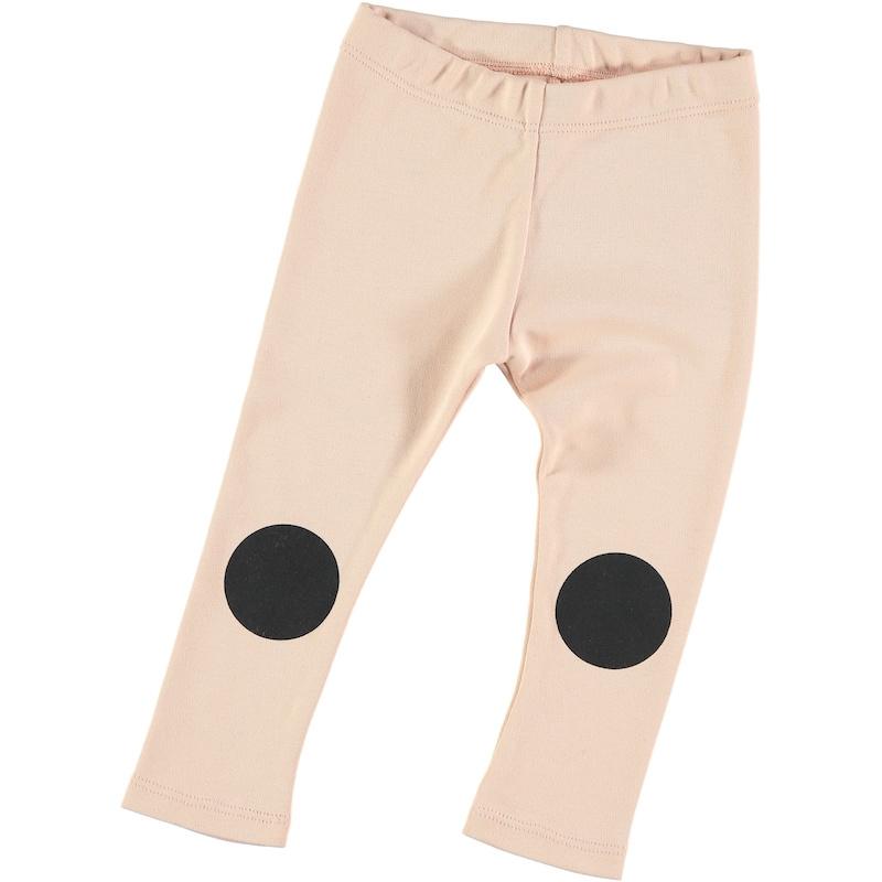 Hi Little - Dot Knee Soft Pink Legging