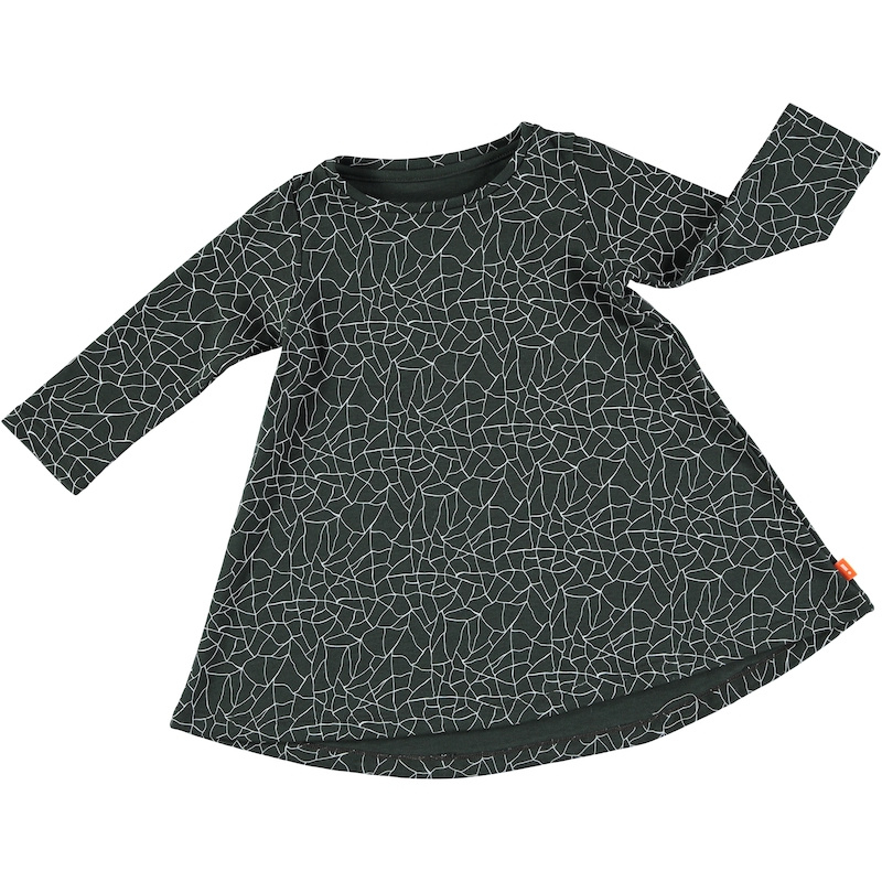 Hi Little - Organic Cracked Black Dress