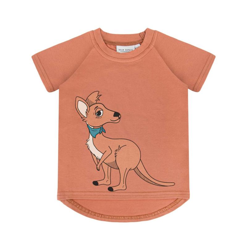 Dear Sophie - Cangaroo Red Brick T-shirt