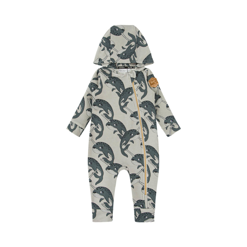 Dear Sophie - Narwhal Grey Overall