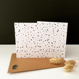 Dubbele wenskaart met envelop 'Hartelijk Bedankt!'