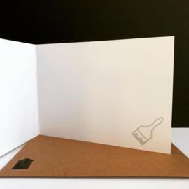 Dubbele wenskaart met envelop 'Bedankt voor je hulp!'