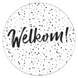 Muurcirkel 'Welkom!'   35cm