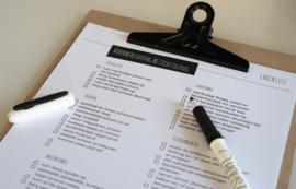 Checklist 'Woning klaarmaken voor bezichtiging'