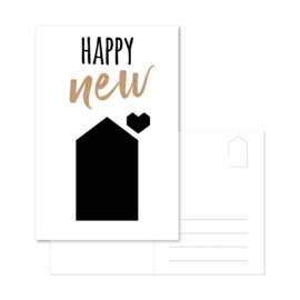 Ansichtkaart 'Happy New House'