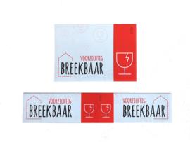 Sticker 'Voorzichtig Breekbaar'