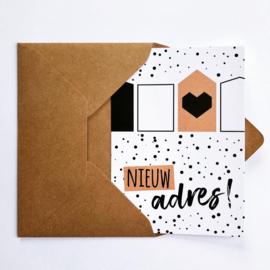 Set van 8 verhuiskaarten met envelop MIX