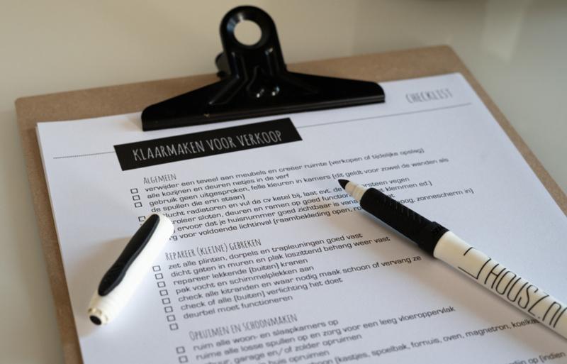 Checklist 'Woning klaarmaken voor verkoop'