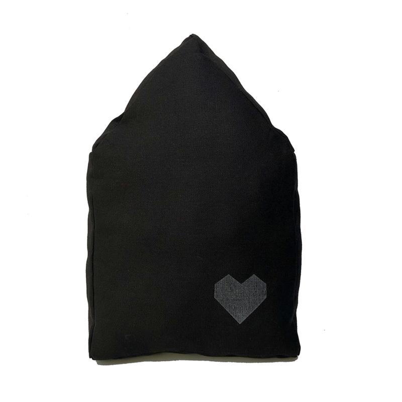 Kussen 'Huisje' Zwart