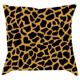 Giraffe print okergeel/zwart