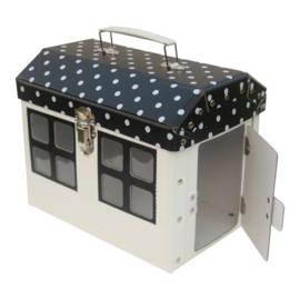 Speelkoffertje huisje monochrome