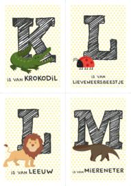Dierenposter letter (gele ster)