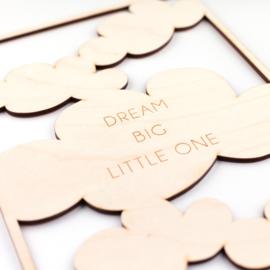 Frame 'dream big little one' (meer kleuren)