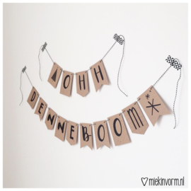 DIY letterslinger - Ohh denneboom