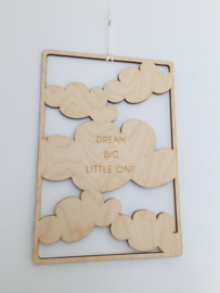 Frame 'dream big little one' (meer kleuren)