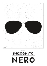 Naamposter monochroom Mr. Incognito