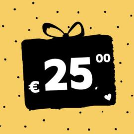 Cadeaubon € 25,-
