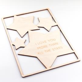 Frame 'I love you more than all the stars' (meer kleuren)