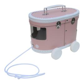 Speelkoffertje roze tram