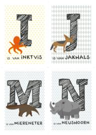 Kaartenset 10 dierenkaarten (zelf samenstellen)