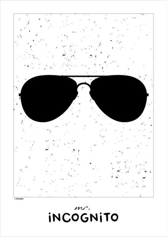 Poster monochroom Mr. Incognito