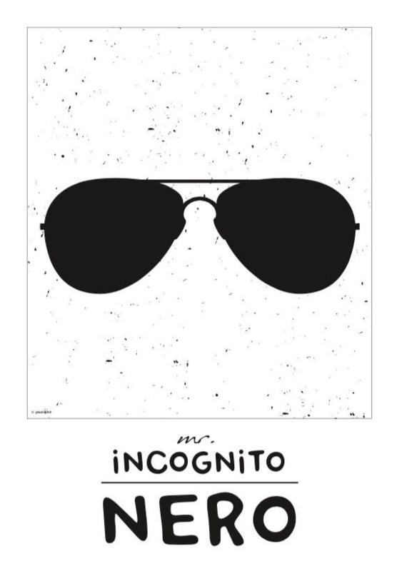 Naamposter monochroom Mr. Incognito