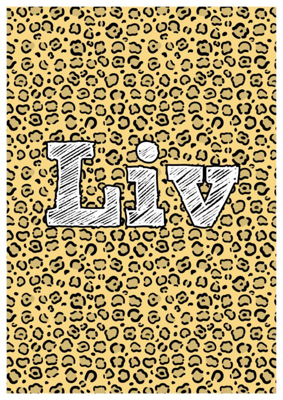 Dierenprint Cheetah (div. kleuren)
