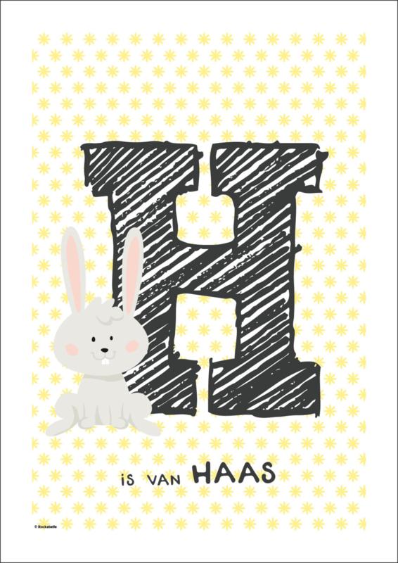 Paasposter 'H is van haas'