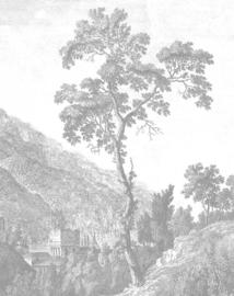 Behangpaneel Engraved Tree