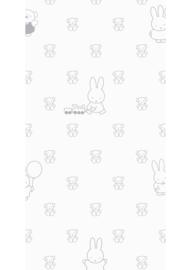 Kek Amsterdam - Behang Miffy Bears Grey