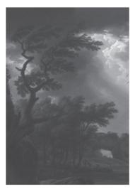 Fotobehang Golden Age Landscapes Black & White - 194,8 x 280 cm - KEK Amsterdam