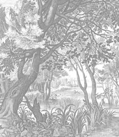 Behangpaneel Engraved Landscapes - 190 x 220 cm - KEK Amsterdam