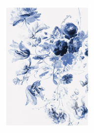 Behang Royal Blue Flowers II