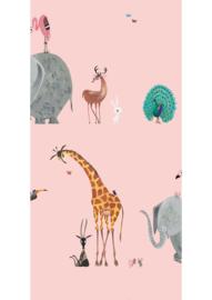 Behang dierenmix