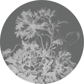 Behangcirkel Engraved Flowers