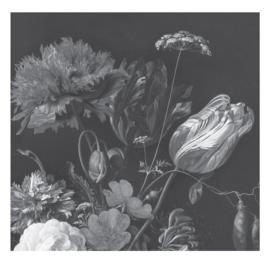 Fotobehang Golden Age Flowers
