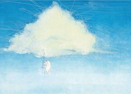 Fotobehang Climbing the Clouds