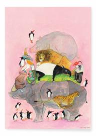 Kek Amsterdam - Poster Springende Pinguins